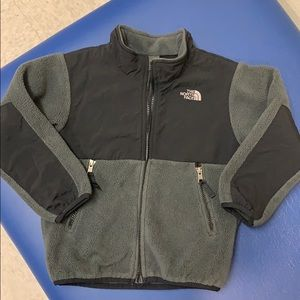 North Face Denali black and gray boys jacket